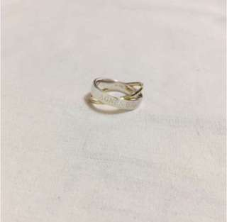 (NEW) Agnes b 925 Sterling Silver Cross Ring