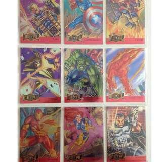 Full Set of 1995 Marvel Metal (18 Metal Blasters Cards)