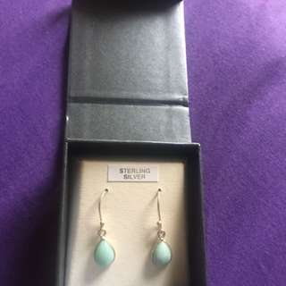 Aquamarine stone earrings