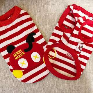 """🚚 (PO) Mickey & Minnie Mouse Adorable Pets Clothing Singlet Top *Limited Stocks"""""""