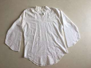Egyptian cotton blouse with beautiful embroidered design