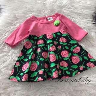 Flora Long Sleeved Muslimah Jubah Dress for Baby Girls