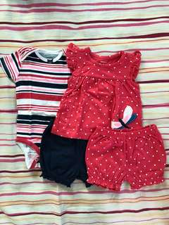 Carters set for baby girl 6 months