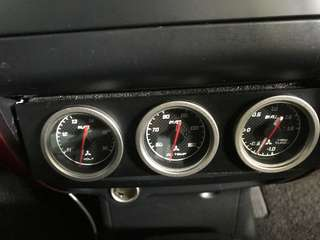 Mitsubishi ralliart din gauges