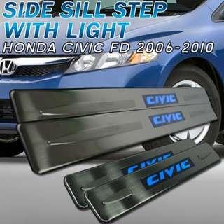 Honda Civic FD LED Side Step Door Step