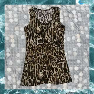 Leopard Sleeveless Tops