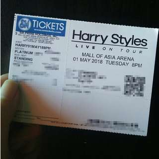 FS: 1 Harry Styles Platinum ticket