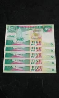 $5 Currency Notes