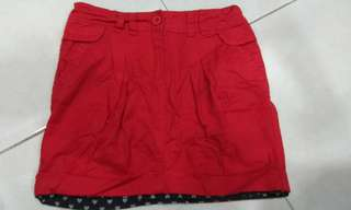 Skirt Merah Budak Perempuan