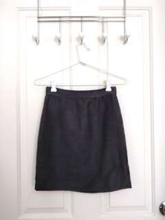 BARDOT Suede Black Mini Pencil Skirt - Size 6