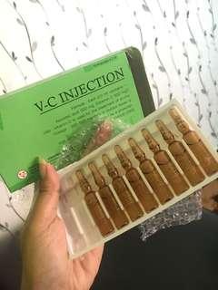V-C Injection campurkan dgn bodylotion