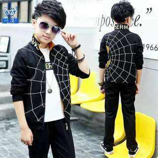 Spiderman Terno Jacket and Pants Black 450