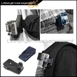 Gopro Compatible Bag Backpack Belt Strap Clip Adapter Hero/Hero2/Hero3/Hero3+ Sony Action Cam Straps JVC Adixxion