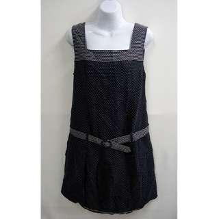 Feravani經典不敗滿版白點點羊毛孕婦裝質感舒適洋裝全新女性44/XXL號Gennie's奇妮孕產業界的領導品牌專櫃品牌