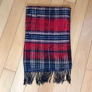 格仔頸巾 scarf