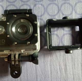 Action Cam with 32GB SD card and Bobber Floater