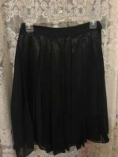 Velvet & chiffon skirt