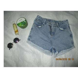 Highwaisted Maong Short