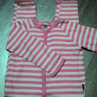 Bonds Stripe 18-24m (size 2) FREE romper Bonds