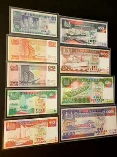 Ship series set $1, $2, $2, $5, $10, $50 , $100, $500 , $1000 banknotes