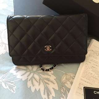 CHANEL Classic Lambskin WOC with Silver Hardware