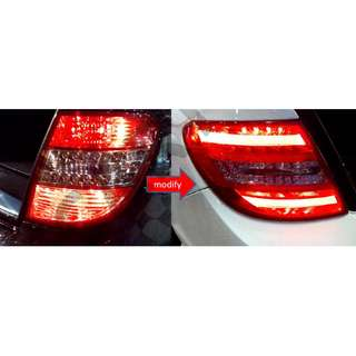 Mercedes W204 tail light retrofit (old design to new design )