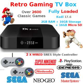 Retro Game TV BOX Kodi 2 Wired Joypad NES SNES SEGA NEO GEO PS1