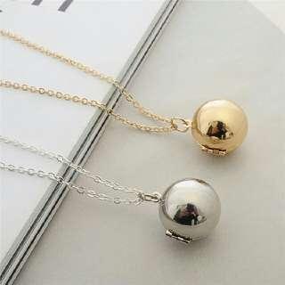 Secret Message Ball Locket Necklace