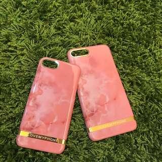 (現貨) • iPhone6/6S、iPhone7 金屬粉色大理石殼