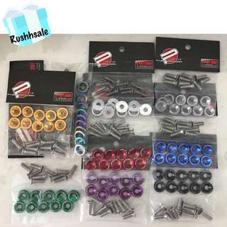 JDM Screws with 9 different colors