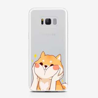 Samsung j7 Plus Corgi Clear Case