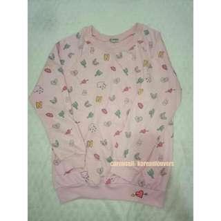 Pink Motif Sweater - Preloved