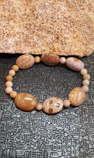 珊瑚玉-扁珠手串