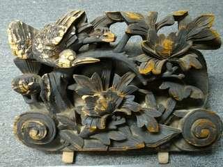 清代 - 特大獨件木彫