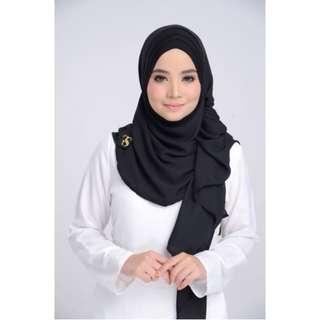 IXORA Instant Hijab Plain Black