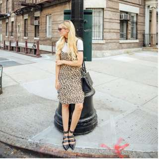 Equipment silk cara slip dress in leopard print