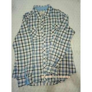 Blue Square Shirt - Preloved