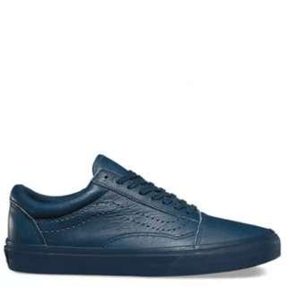 Vans Leather Old Skool Shoes (navy Color)