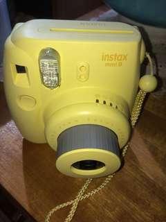 Instax mini 8 yellow Polaroid