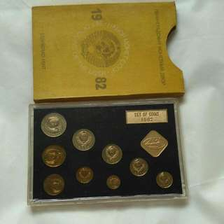 set of coins 1982