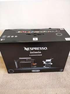 NESPRESSO Inissia & Aeroccino3 Capsule Coffee Maker