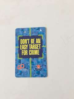 TransitLink Card - Don't Be An Easy Target For Crime