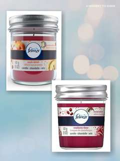 febreze scented candles (pack of 2)