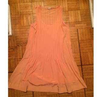 Club Monaco Coral Silk Melynda dress