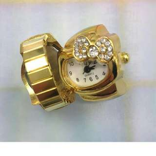 Hello kitty ring watch