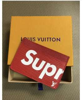 Supreme Louis Vuitton red card holder