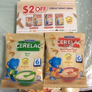 Nestle Cerelac included $2 off voucher