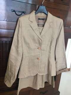 Linen Jacket and Skirt