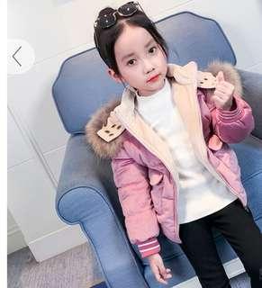 Girl's winter jacket - Ready stock