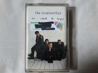 "The Cranberries ""No Need To Argue"" Cassette Tape"